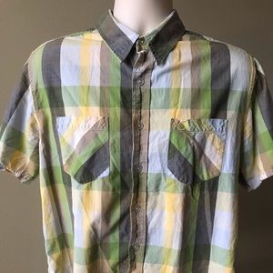 VTG OP Multicolor Embroidered Logo Casual Shirt